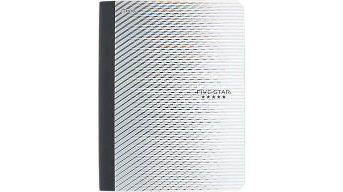 Five Star Graphics Plastic Composition Notebook  (09292)