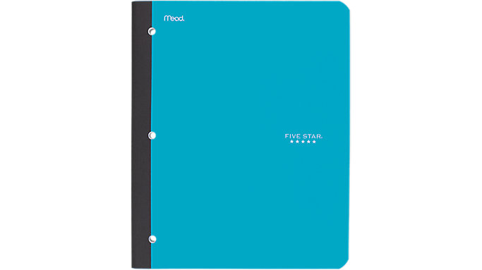 Five Star Wireless Notebook with Pocket 1 Subject  (09294)