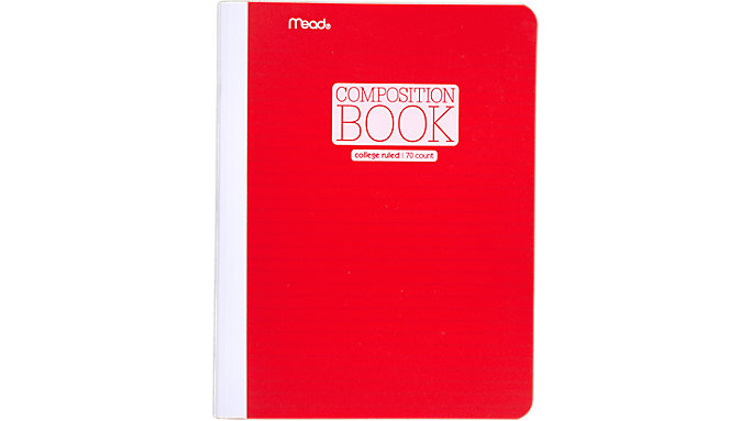 Mead Plastic Composition Book, College Ruled, 70 Sheets  (09364)