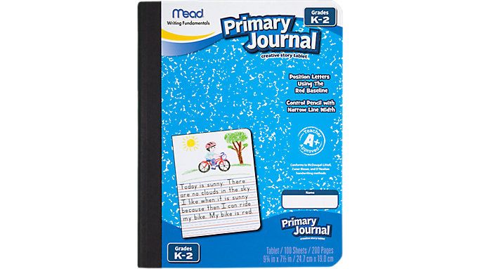 Mead Primary Journal Half Page Ruled 100 Count  (09554)