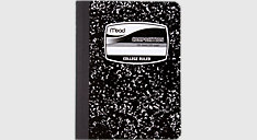 Black Marble Composition Book-1 Subject (Item # 09932)