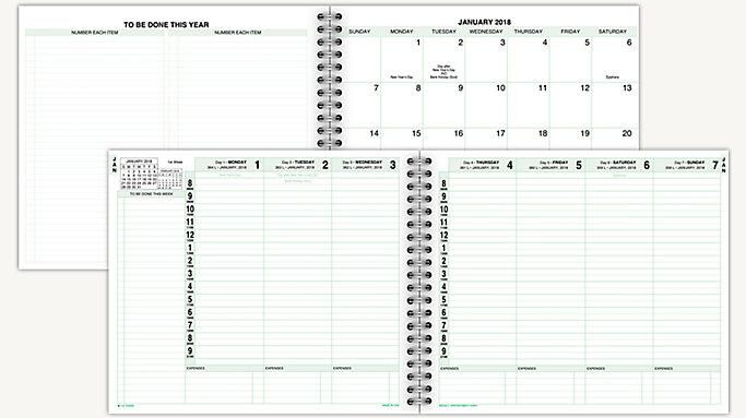 Attractive Day Timer Weekly Appointment Planner Refill (10044)