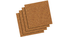 Frameless Natural Cork Tiles 4 pack (Item # 100T)