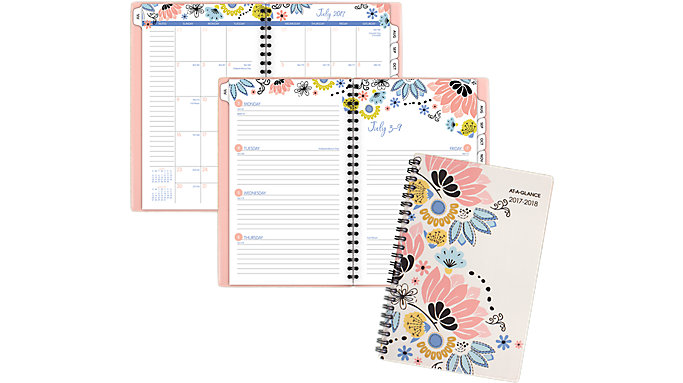 AT-A-GLANCE Claire Academic Weekly-Monthly Planner  (1014-200A)