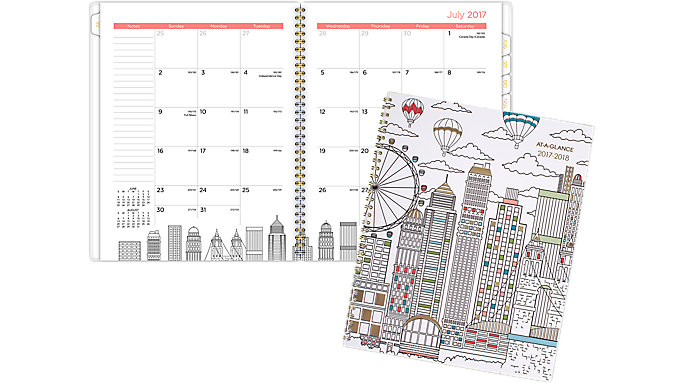 AT-A-GLANCE Paint the Town Academic Monthly Planner  (1017-900A)