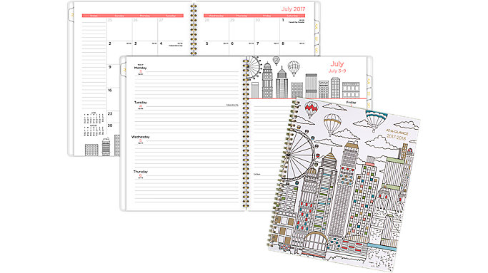 AT-A-GLANCE Paint the Town Academic Weekly-Monthly Planner  (1017-905A)