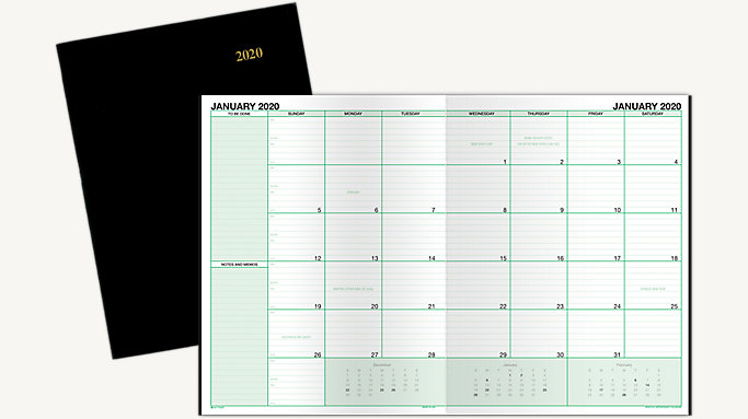photograph relating to Daily Planner Notebook called Working day-Timer Month-to-month Planner Laptop Measurement