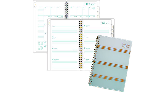 AT-A-GLANCE Ombre Academic Weekly-Monthly Planner  (1026-200A)