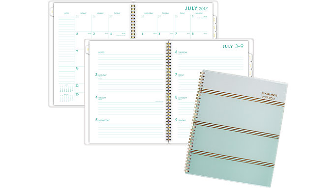 AT-A-GLANCE Ombre Academic Weekly-Monthly Planner  (1026-905A)