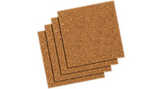 Frameless Natural Cork Tiles 12x12  4 pack (Item # 102)