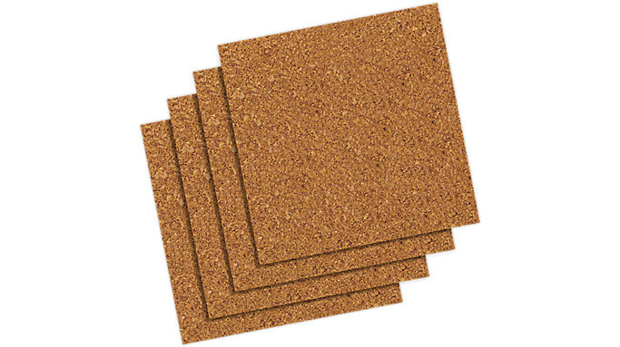 Quartet Frameless Natural Cork Tiles 12x12  4 pack  (102)