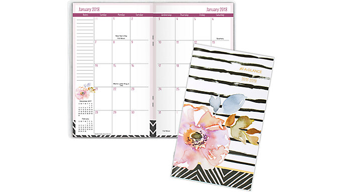 AT-A-GLANCE Kathy Davis 2-Year Monthly Pocket Planner  (1035-021)
