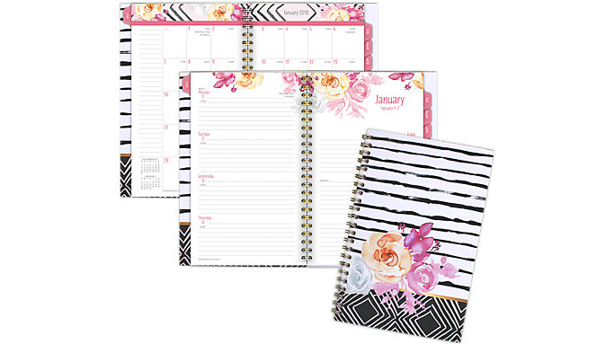 AT-A-GLANCE Kathy Davis Customizable Weekly-Monthly Planner  (1035-201)