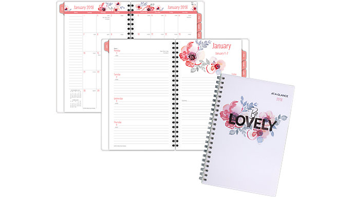 AT-A-GLANCE Kathy Davis Weekly-Monthly Planner  (1035F-200)