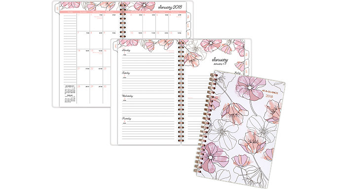 AT-A-GLANCE Blush Weekly-Monthly Planner  (1041-200)