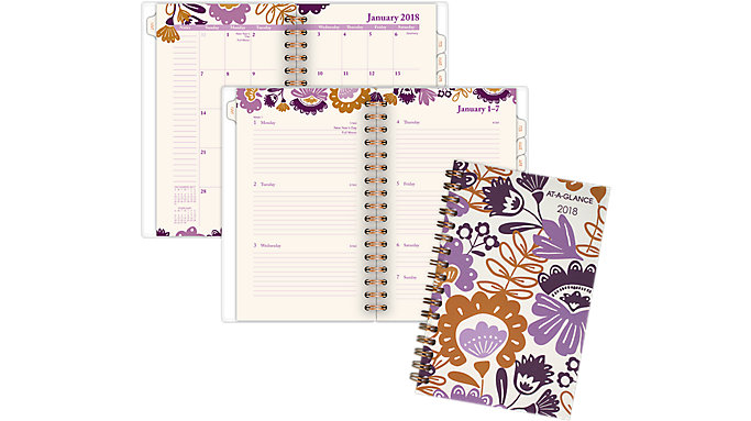AT-A-GLANCE Ingrid Weekly-Monthly Planner  (1042-300)