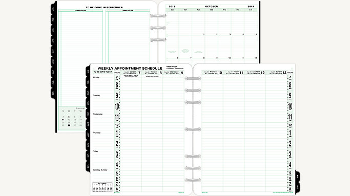 photograph about Weekly Planner Page referred to as Working day-Timer 2-Site-For each-7 days Vertical Column Planner Refill Folio Measurement