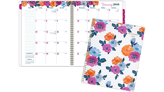 AT-A-GLANCE Eva Monthly Planner  (1044-900)
