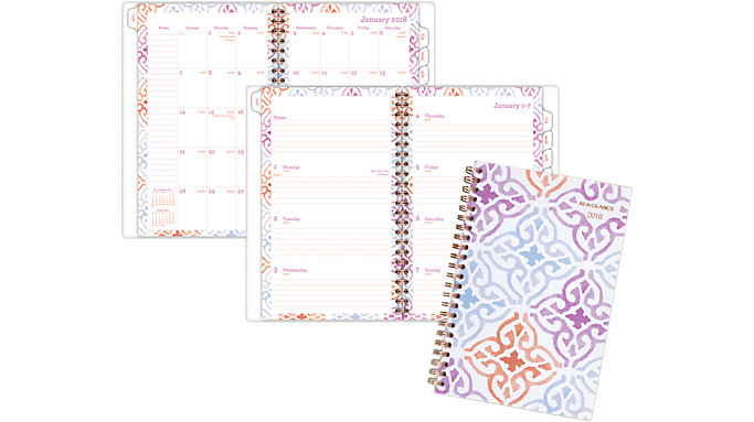 AT-A-GLANCE Cecilia Weekly-Monthly Planner  (1050-200)