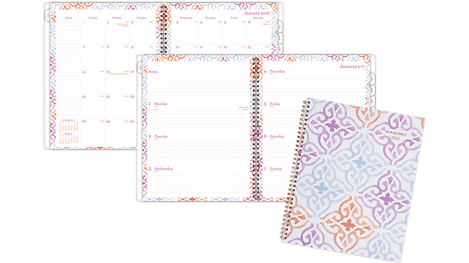 AT-A-GLANCE Cecilia Weekly-Monthly Planner  (1050-905)
