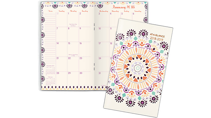 AT-A-GLANCE Sun Dance 2-Year Monthly Pocket Planner  (1051-021)