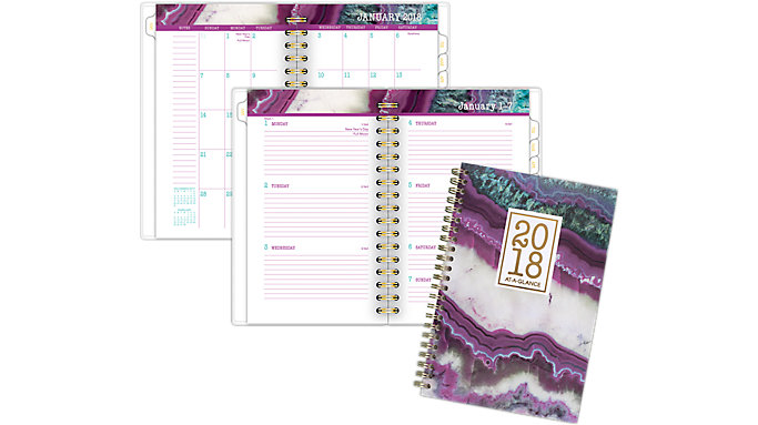 AT-A-GLANCE Agate Weekly-Monthly Planner  (1053-300)