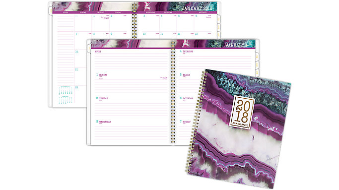 AT-A-GLANCE Agate Weekly-Monthly Planner  (1053-905)
