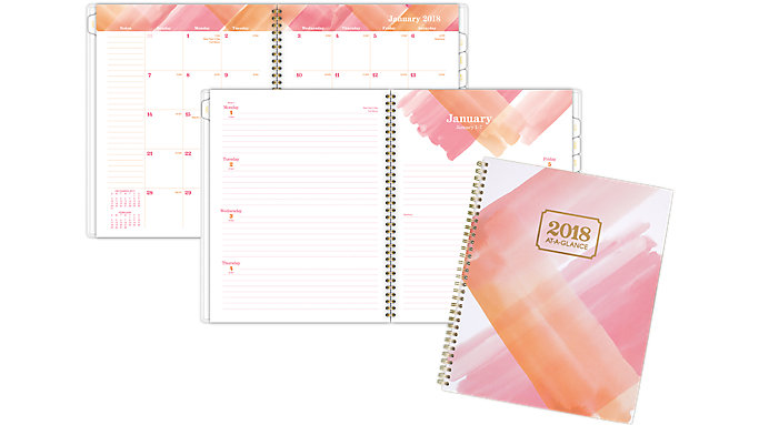 AT-A-GLANCE Painted Love Weekly-Monthly Planner  (1066-905)
