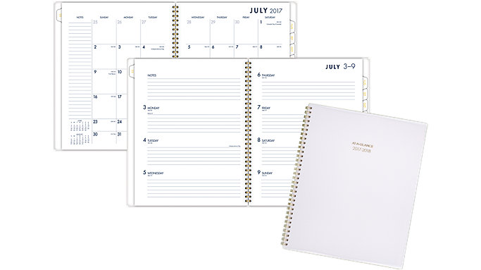 AT-A-GLANCE Color Bar Academic Weekly-Monthly Planner  (1067-905A)
