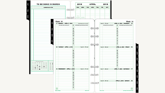 PagePerWeek Original Planner Refill Portable Size    Day