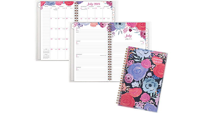 AT-A-GLANCE Midnight Rose Customizable Academic Weekly-Monthly Planner  (1101-201A)