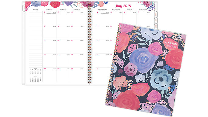 AT-A-GLANCE Midnight Rose Academic Monthly Planner  (1101-902A)