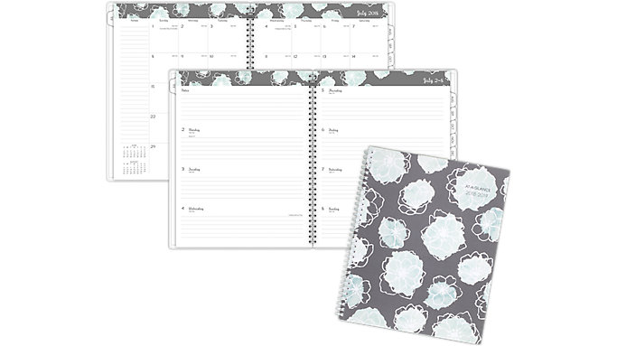 AT-A-GLANCE Mint Flora Academic Weekly-Monthly Planner  (1103-905A)