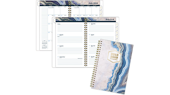 AT-A-GLANCE Sapphire Academic Weekly-Monthly Planner  (1106-200A)