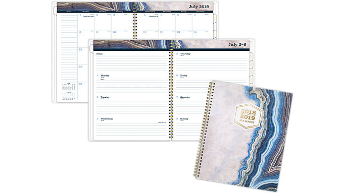 AT-A-GLANCE Sapphire Academic Weekly-Monthly Planner  (1106-905A)