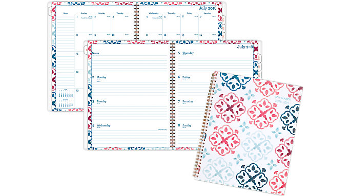 AT-A-GLANCE Lydia Academic Weekly-Monthly Planner  (1109-905A)