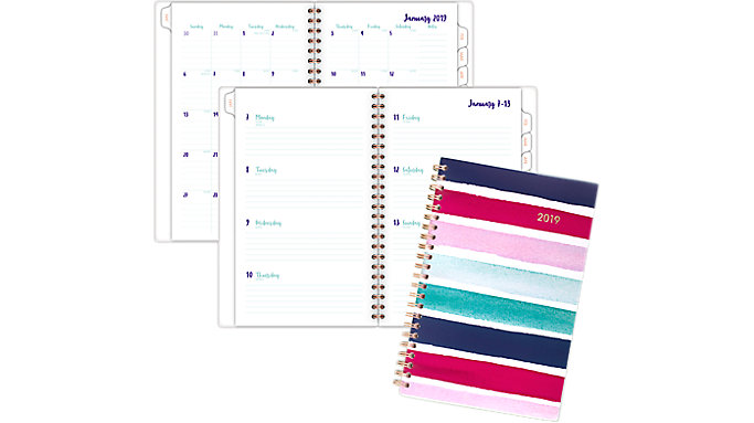 Cambridge Carousel Stripe Weekly-Monthly Planner  (1112S-200)