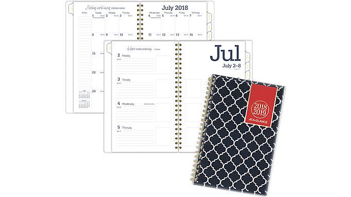 AT-A-GLANCE Emma Morrocan Academic Customizable Weekly-Monthly Planner  (1116M-201A)