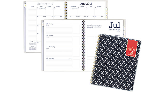 AT-A-GLANCE Emma Morrocan Academic Customizable Weekly-Monthly Planner  (1116M-901A)