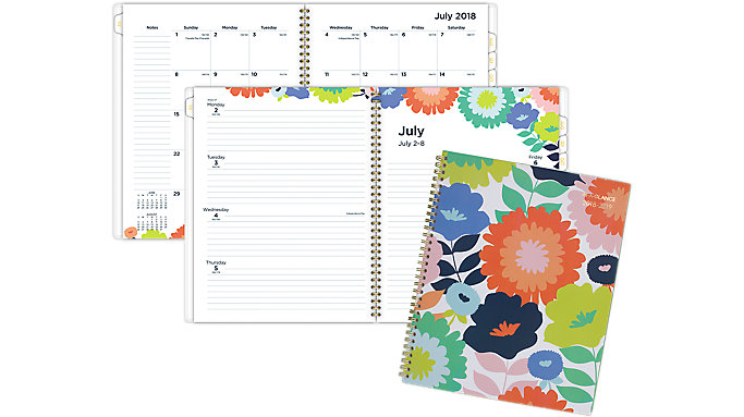 AT-A-GLANCE Flower Pop Academic Weekly-Monthly Planner  (1120-905A)