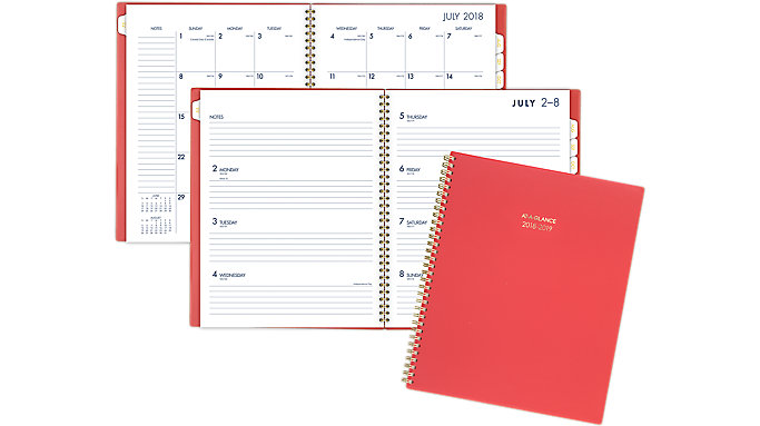 AT-A-GLANCE Color Bar Academic Weekly-Monthly Planner  (1123-905A)