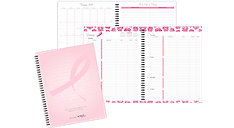 Pink Ribbon 2-Page-Per-Week Planner Refill Notebook Size (Item # 11241)