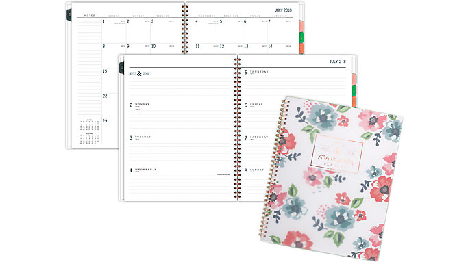 AT-A-GLANCE Badge Academic Weekly-Monthly Planner  (1124F-905A)