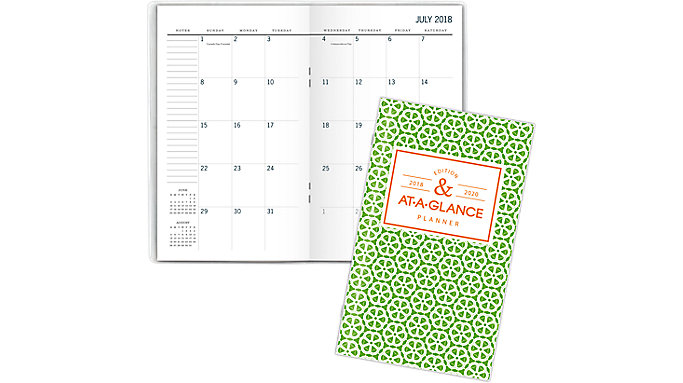 AT-A-GLANCE BADGE Academic 2-Year Monthly Pocket Planner  (1124G-021A)