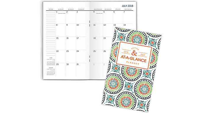 AT-A-GLANCE Badge Academic 2-Year Monthly Pocket Planner  (1124T-021A)