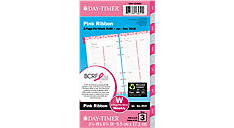 Pink Ribbon 2-Page-Per-Week Planner Refill Portable Size (Item # 11270)