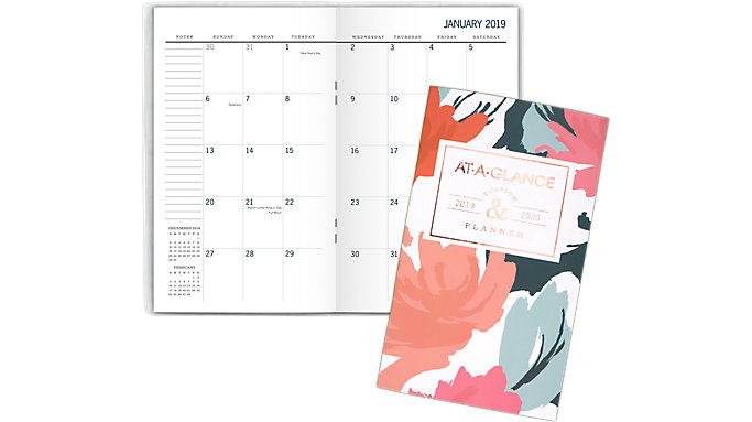 AT-A-GLANCE Badge 2-Year Monthly Pocket Planner  (1148-021)