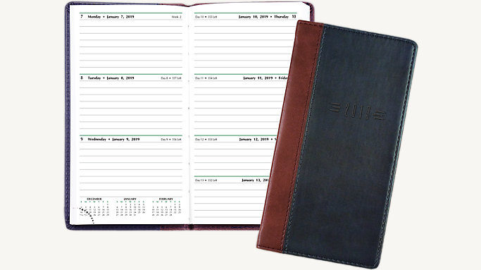 slim retro weekly planner pocket size 12556 day timer