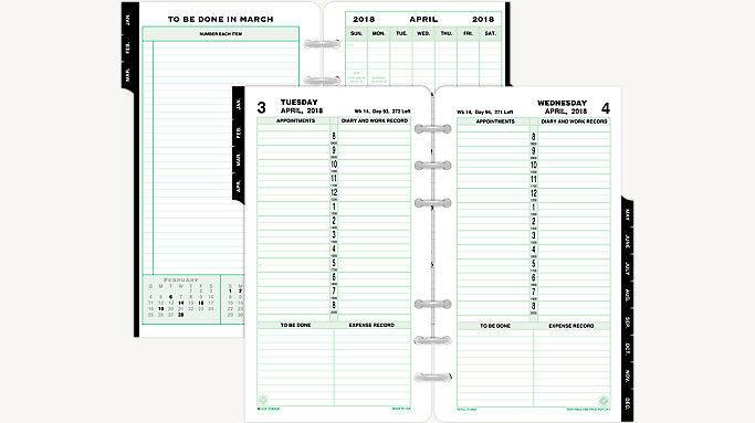 PagePerDay Planner Refill Portable Size    DayTimer