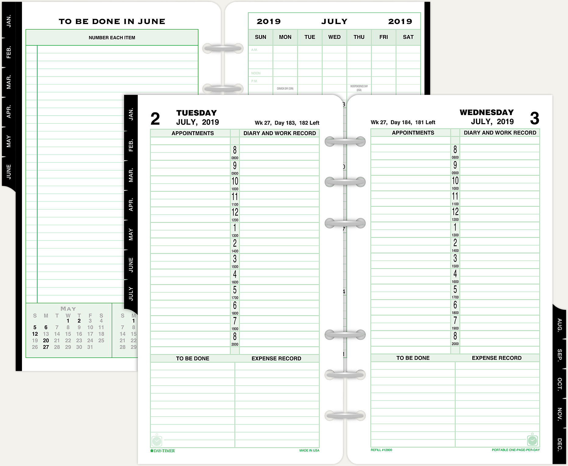 image relating to Day by Day Planner named 1-Web site-For each-Working day Planner Refill Moveable Sizing 12800 Working day-Timer